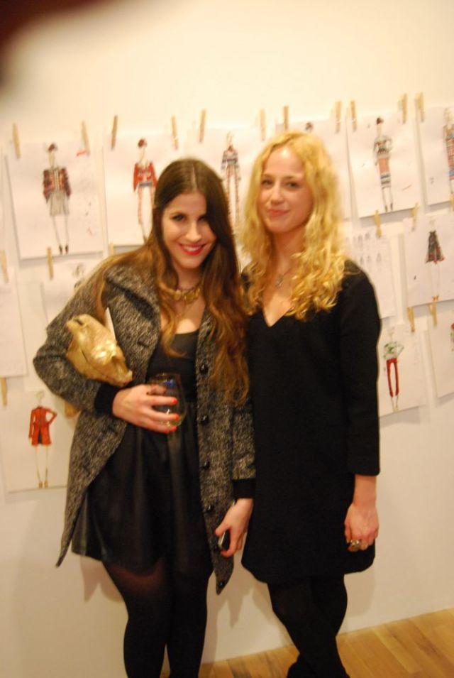 Fashion Blogger Emilie Sobel (of www.emiliesobel.com) & designer - Amanda Henderson
