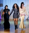 Designer Dominique Auxilly with Lil Kim & Janice Dickinson