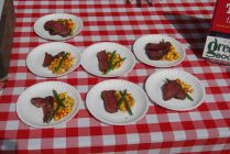 Smoked Texas beef tenderloin w/ summer corn succotash