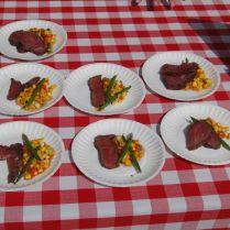 Smoked Texas beef tenderloin w/ summer corn succotash
