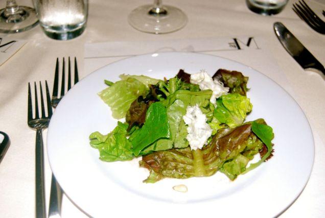 Artisanal Greens, gorgonzola, pignolia, caramelized pumpkin, tomato vinaigrette