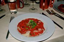 Beef Carpaccio, grass fed beef, Italian white truffles, parmesan